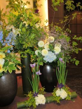 壺花の活け込み